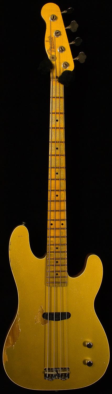 fender custom shop - limited edition goldtop dusty hill precision bass.
