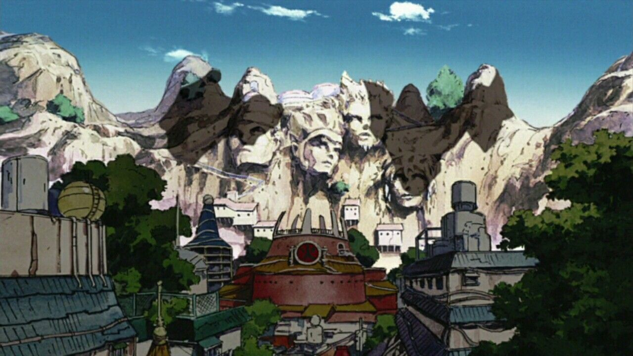 Hidden leaf village | screenshot in 2019 | Naruto, Art, Mount rushmore