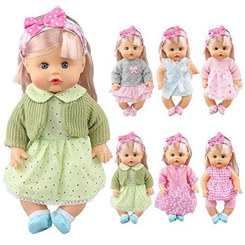 Jing Show Bussiness Pack Of 6 Alive Lovely Baby Gown Dress Clothes Accessories Outfits Fits 12inch Doll Bitty Baby Doll In 2020 Baby Clothes Patterns Baby Gown Doll Dress Patterns
