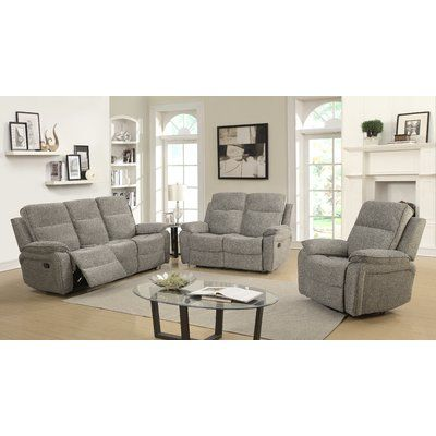 Fine Charlton Home Russo Reclining Configurable Living Room Set Pdpeps Interior Chair Design Pdpepsorg