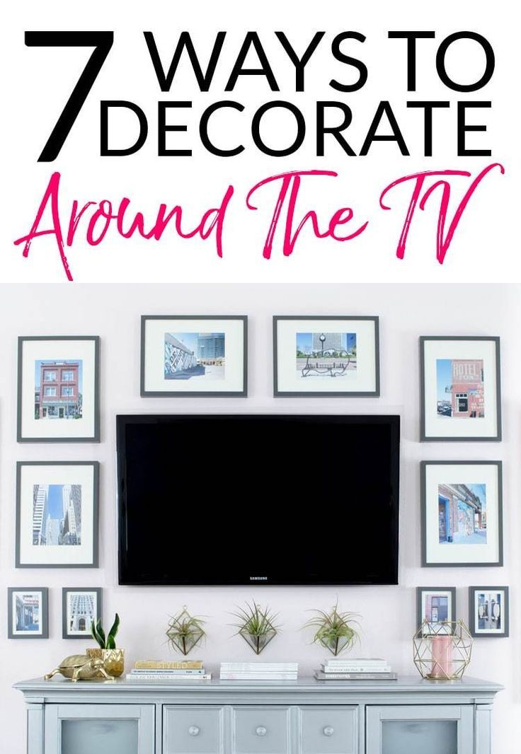 How to Decorate Around a TV {An Option for Every Style}