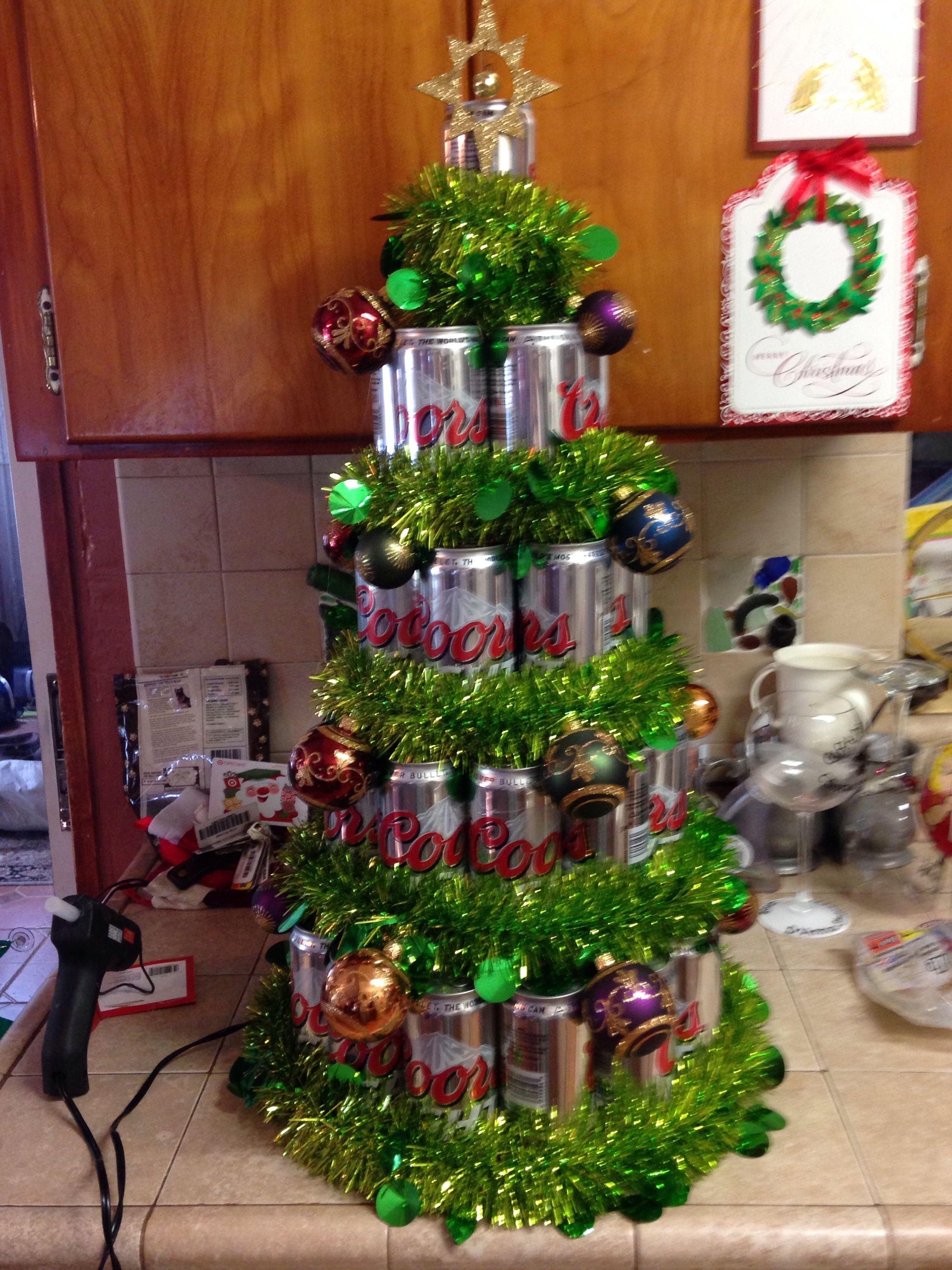 Beer Tree Beer Christmas Gifts Christmas Tree With Gifts Beer Can Christmas Tree