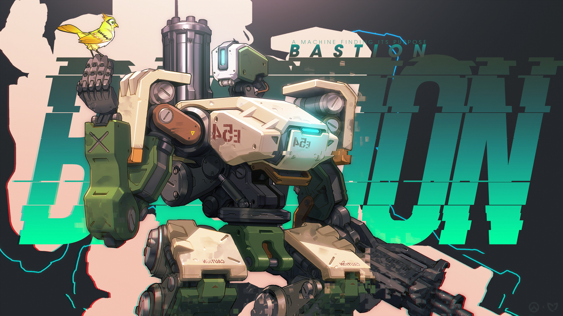 Overwatch Bastion Wallpaper By Mikoyanx Png 1920 1080 Overwatch Wallpapers Overwatch Bastion Overwatch