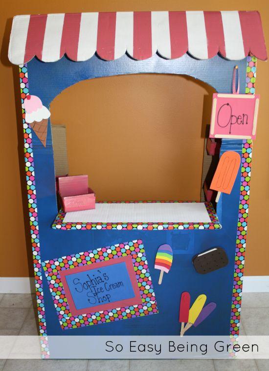 DIY Ice Cream Shop out of a cardboard box | Diy ice cream ...