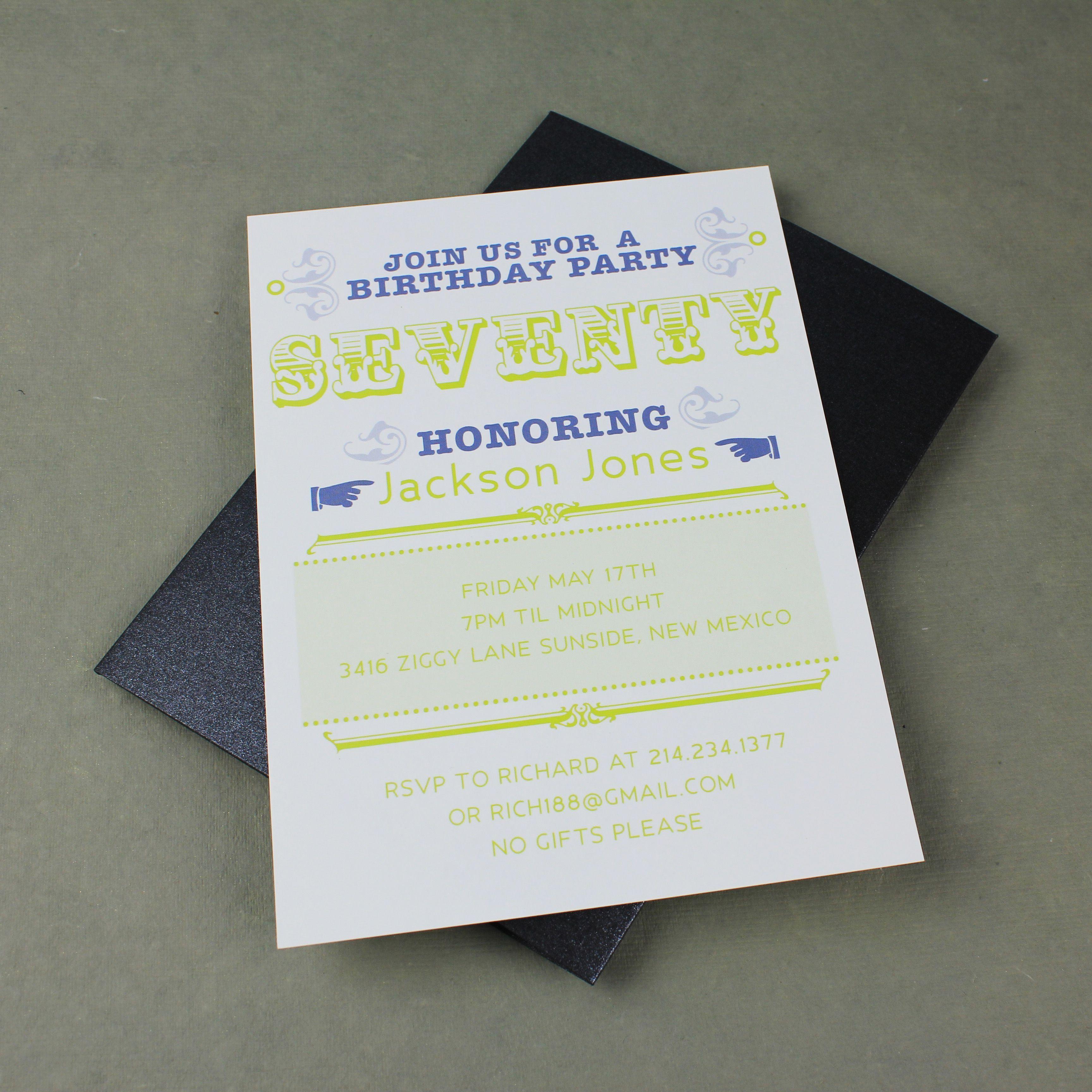 birthday invitation : 70th birthday invitations - Free Invitation ...