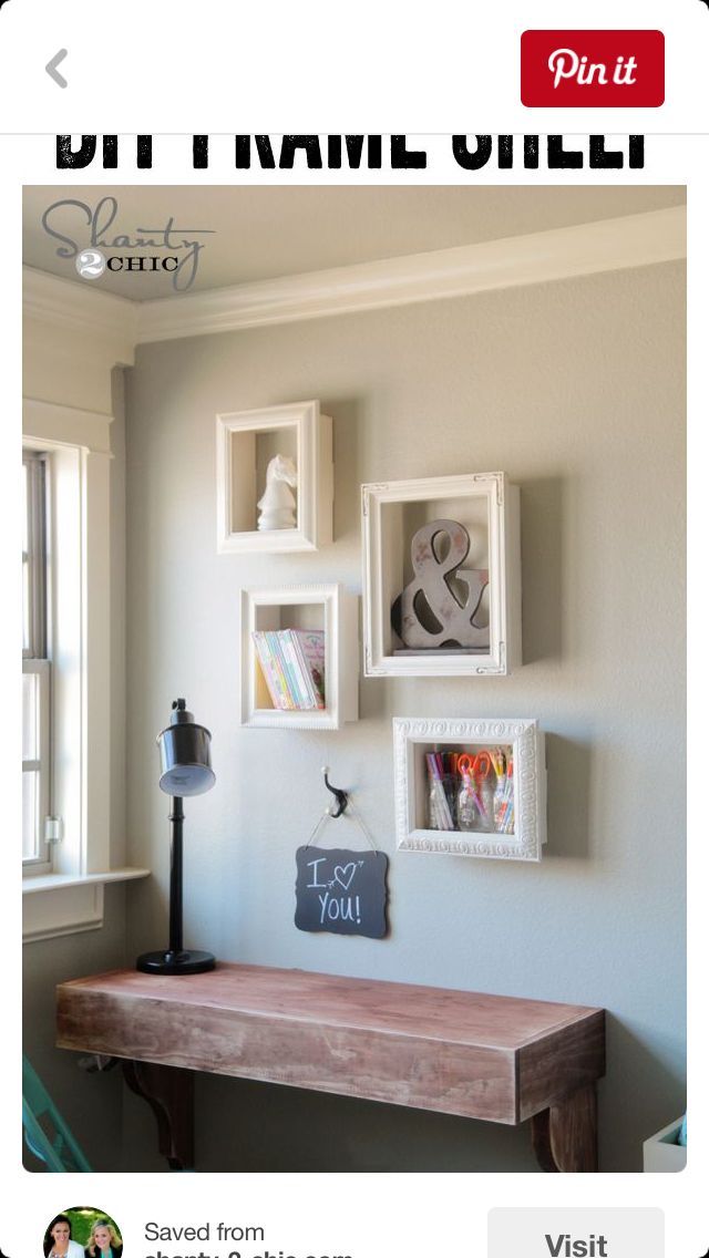 Picture frame shelves
