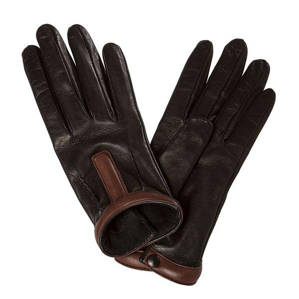 efad284ac7bfa Prada Women's Black/ Brown Pintucked Leather Driving Gloves ...