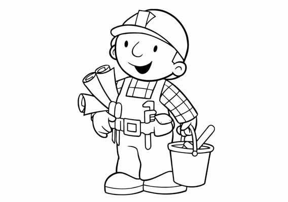 kleurplaat bob de bouwer verjaardag zoeken