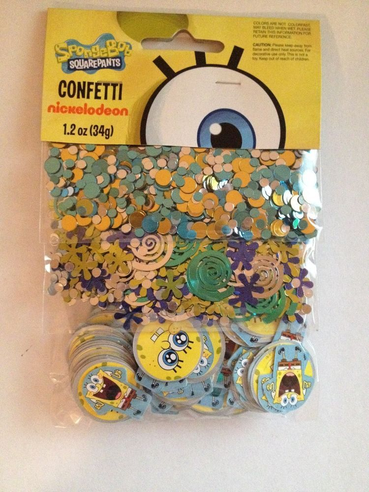 Nickelodeon Spongebob SquarePants 3 Pack Confetti Birthday Party Supply Favors