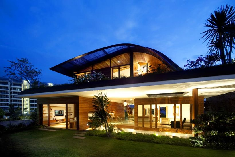 Amazing home with impressive green roof singapore