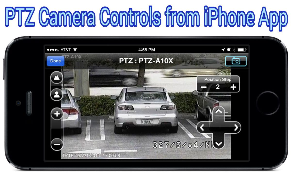 Control PTZ cameras from iPhone with the iDVR-PRO app for iOS