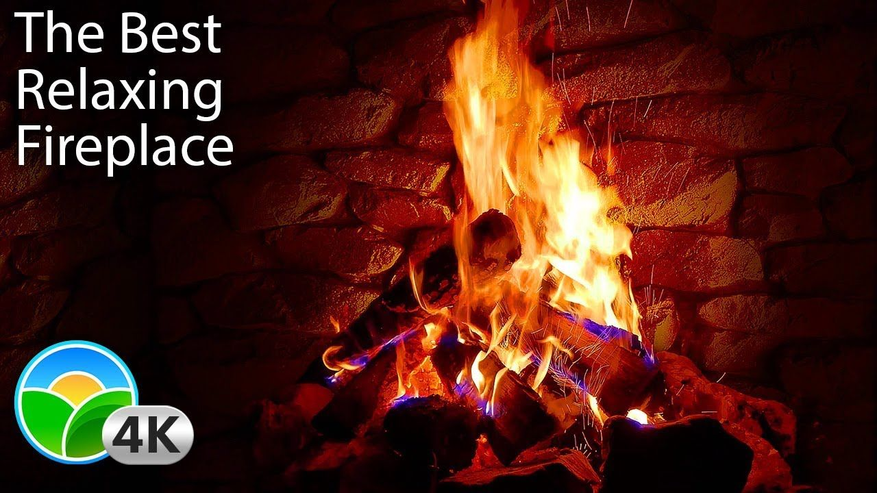 4k Relaxing Fireplace With Crackling Fire Sounds No Music 4k Uhd Christmas Music Instrumental Christmas Music Fireplace