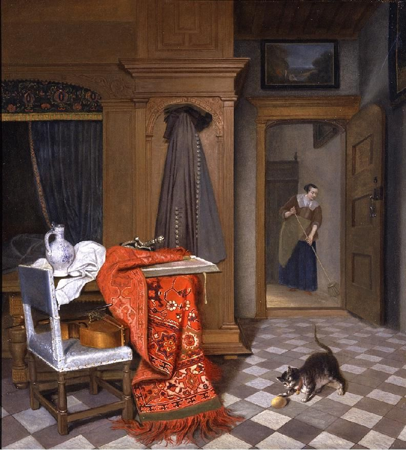 Probably, this cat lived with the Dutch painter Cornelis de Man (1621-1706)