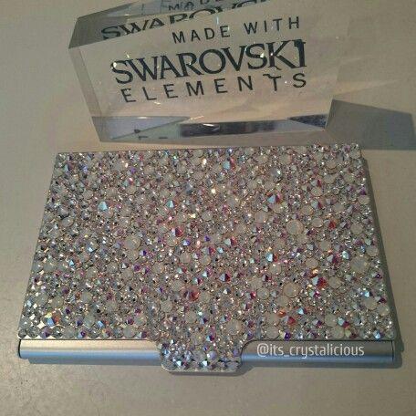 Crystalicious luminated business card holder custome made with crystalicious luminated business card holder custome made with genuine crystals from swarovski bling colourmoves