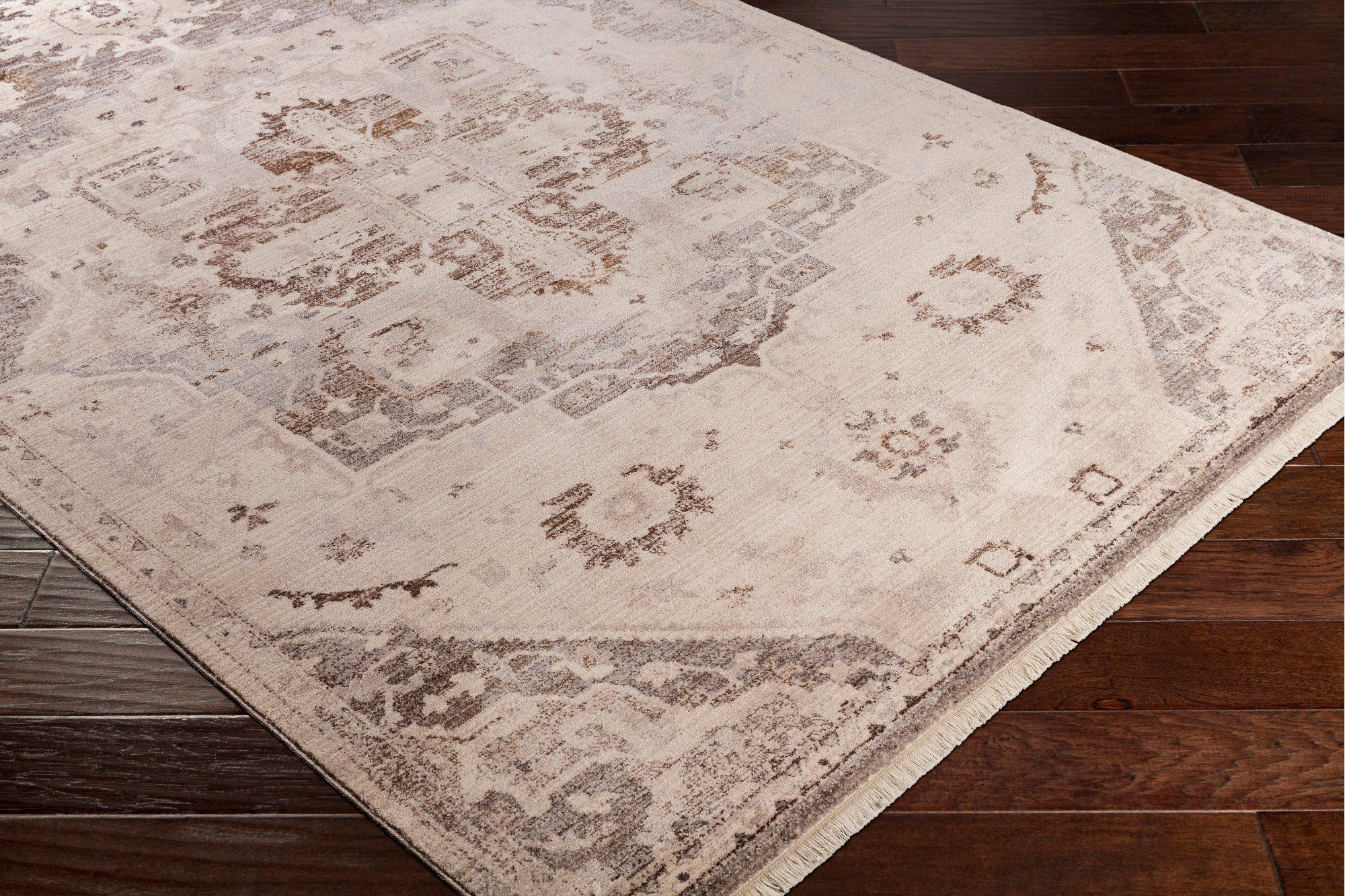 9 X 13 X Large Beige Brown And Gray Area Rug Ephesians Rugs