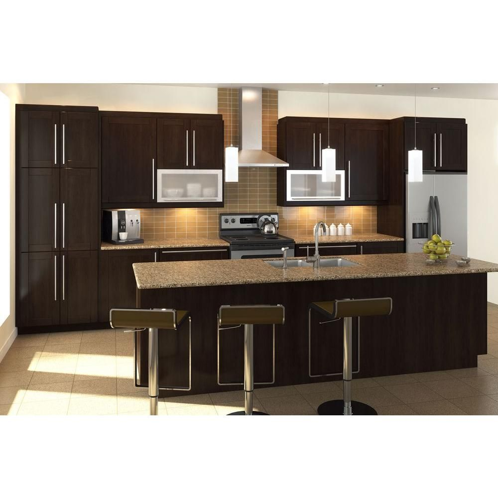 Small Kitchen Home Depot: Fabritec Ready To Assemble 36x34.5x24.5 In. Barcelona Full