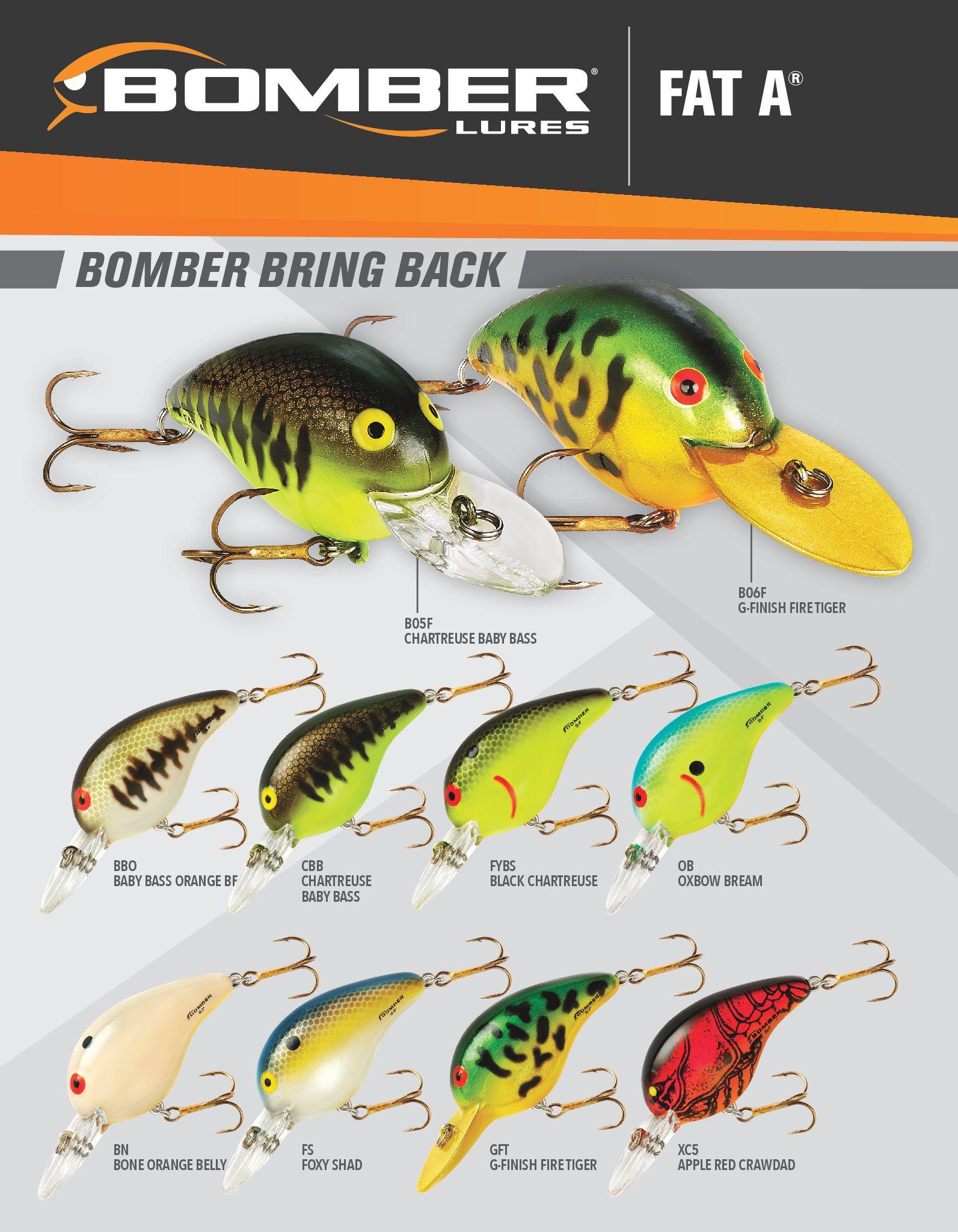 2018 bomber fat a color chart bass pinterest colour chart 2018 bomber fat a color chart fishing lurescolour nvjuhfo Gallery