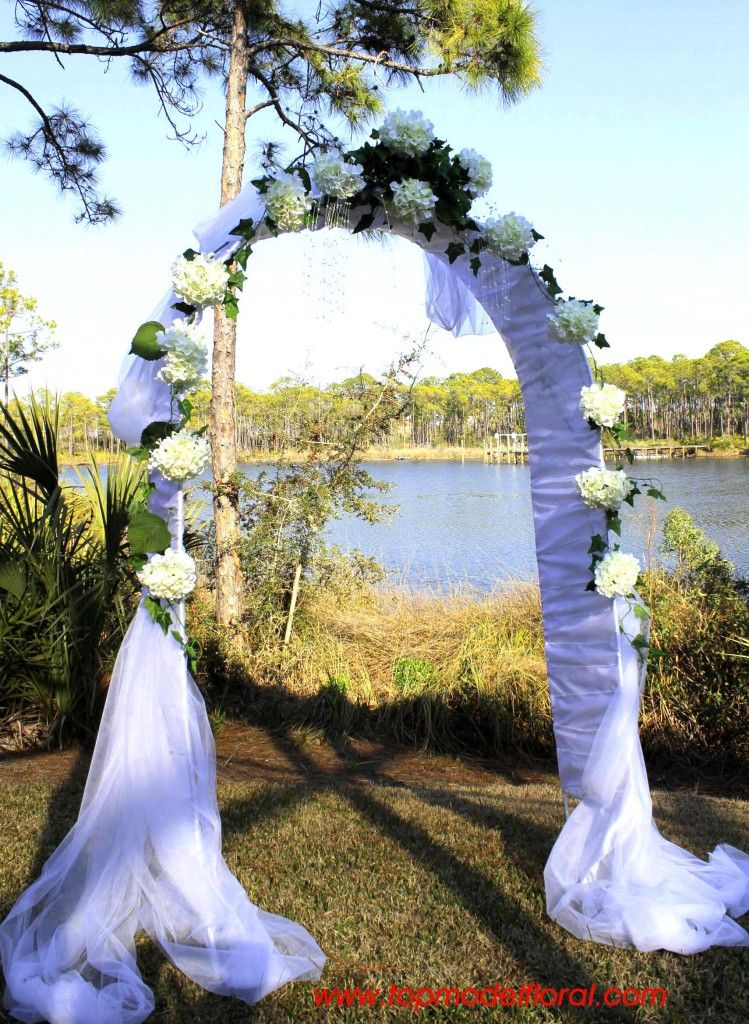 White hydrangea wedding arch wedding planning ideas pinterest white hydrangea wedding arch junglespirit Choice Image