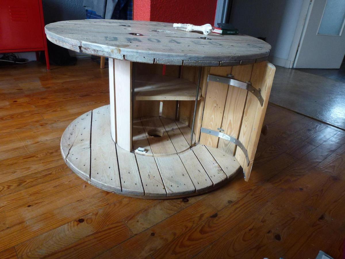 Idée  Le recyclage des tourets  siege et table touret  Pinterest  Touret -> Table Touret