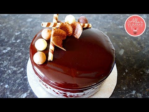 Chocolate Mirror Glaze Recipe Шоколадная зеркальная глазурь You