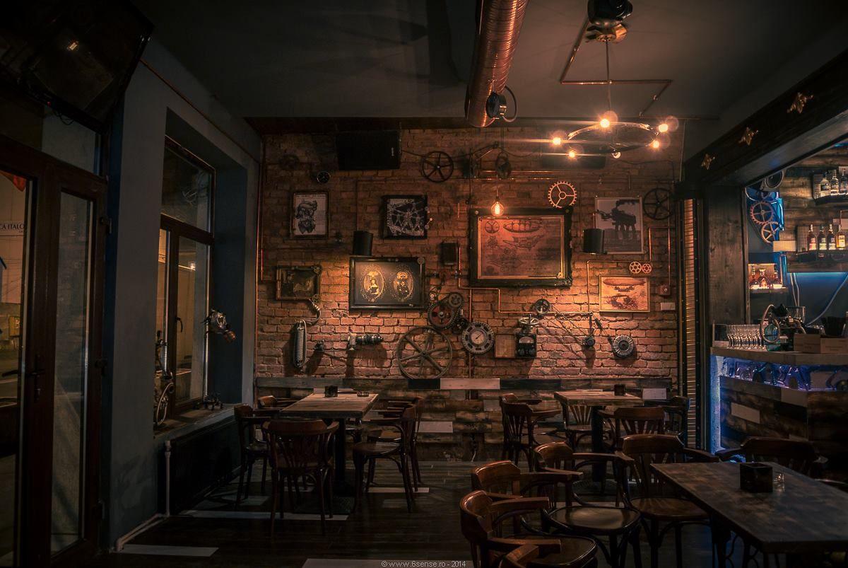 look inside a great steampunk pub steampunk barsteampunk interiorsteampunk designbistro
