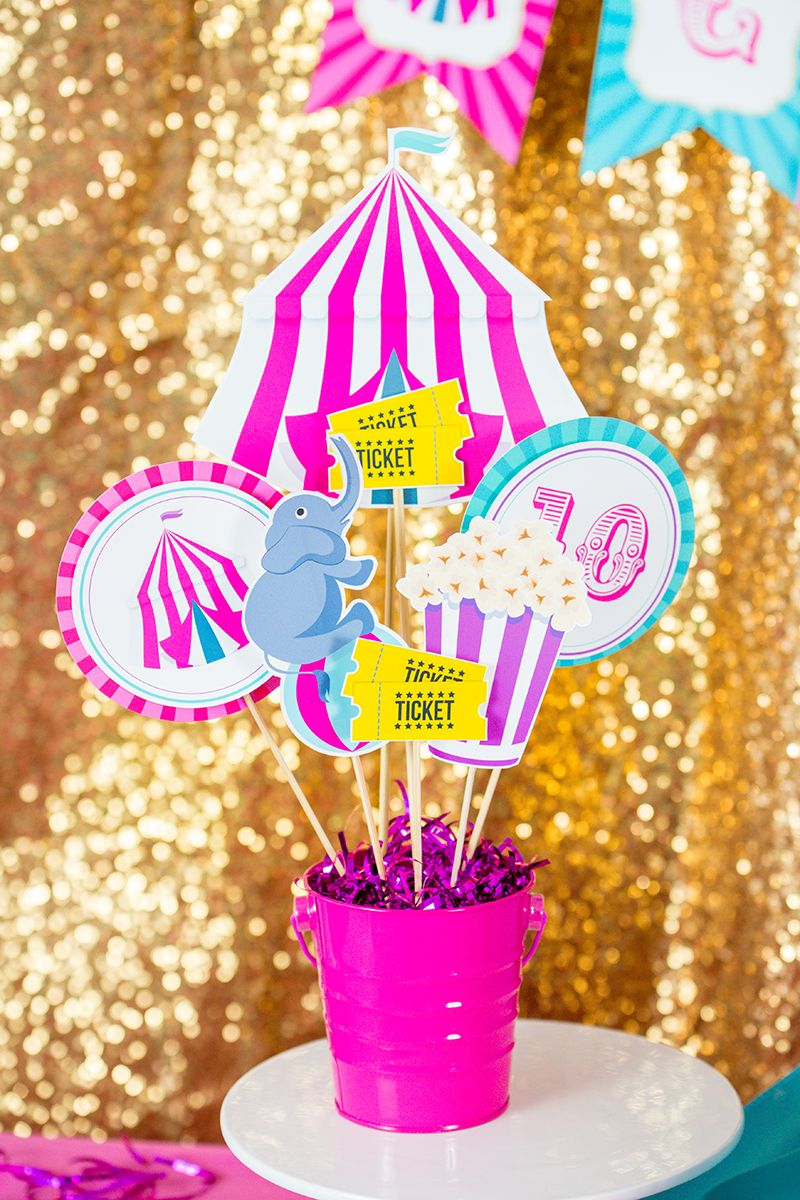 Carnival Theme Centerpieces Carnival Party Centerpieces Pink Carnival Table Centerpieces Carnival Party Table Decorations Carnival Party Centerpieces Carnival Centerpieces Circus Theme Centerpieces