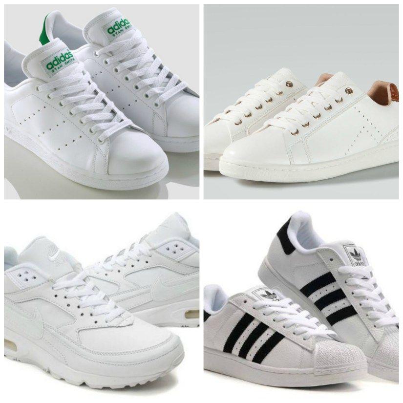 zapatillas blancas Nike y Adidas