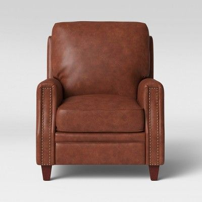 Best Bolton Pushback Recliner Faux Leather Camel Brown 400 x 300