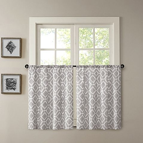 Madison Park Delray 24 Inch Printed Diamond Window Curtain Tier