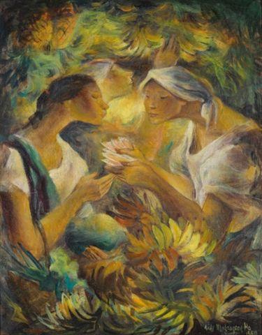 Banana Sellers By Anitamagsaysay Ho Filipino Art Artist Philippine Art