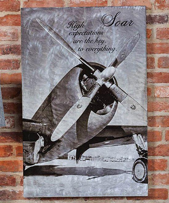 Metallic Airplane 'Soar' Wall Art @ http://www.zulily.com/p/metallic-airplane-soar-wall-art-122151-8444469.html?pos=182&fromEvent=122151&