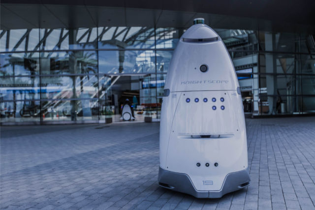 Security guard robot ends it all by throwing itself into a