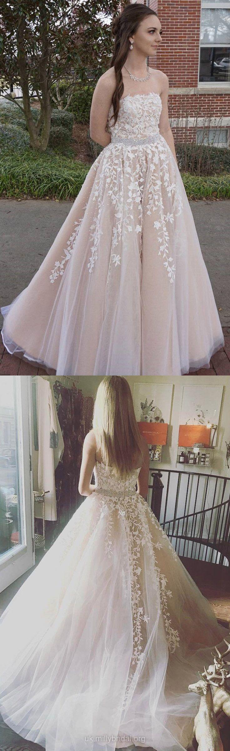 Pink formal dresses long princess prom dresses vintage lace