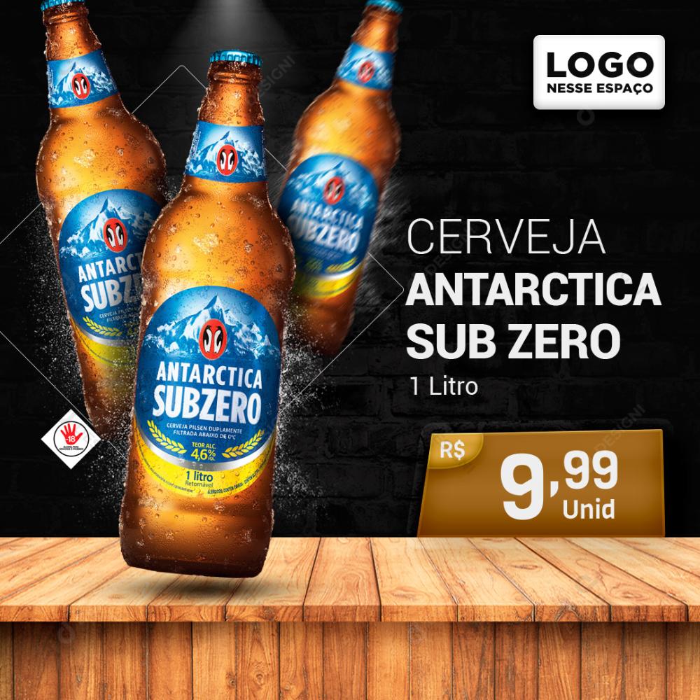 Cerveja Antarctica Sub Zero 1litro Social Media Psd Editavel Download Designi Em 2021 Cerveja Sub Zero Beer Design