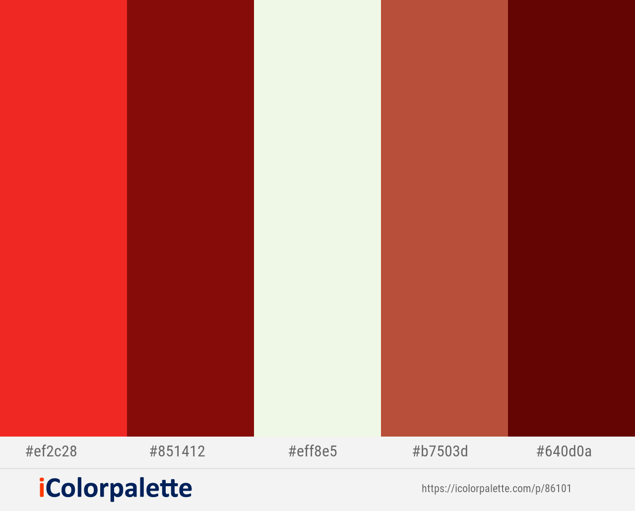 Pomegranate Tamarillo Frost Crail Mahogany Color Scheme Icolorpalette Mahogany Color Red Colour Palette Color Schemes