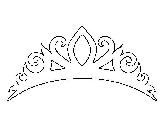 Tiara pattern Use the printable outline for crafts, creating - crown template