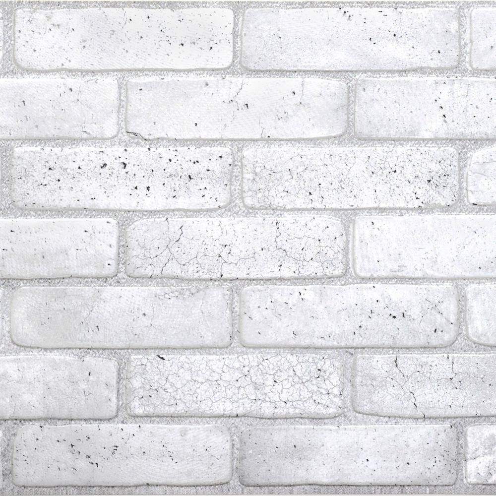 Dundee Deco 3d Retro 16 1000 In X 38 In X 19 In Old Grey Pvc Wall Panel 018 Og The Home Depot In 2021 Brick Wall Paneling Faux Brick Walls Pvc Wall Panels