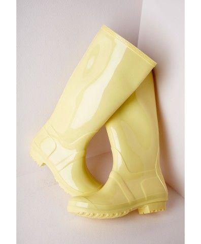 Leg Wellies Lemon   Yellow boots