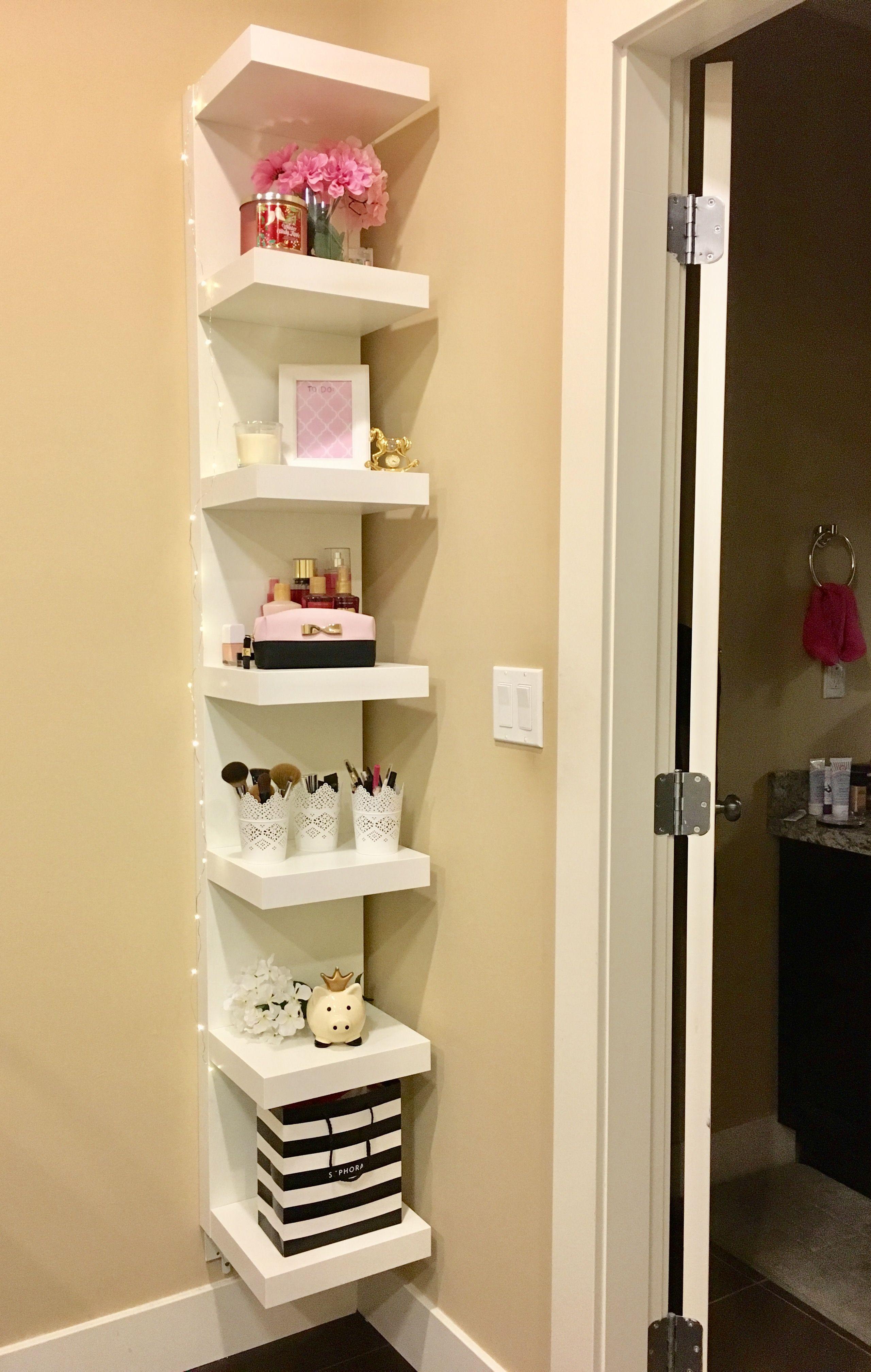 Ikea lack shelf, room decor, fairy lights  Ikea lack shelves