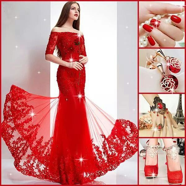 Red colour is also nice for soiree