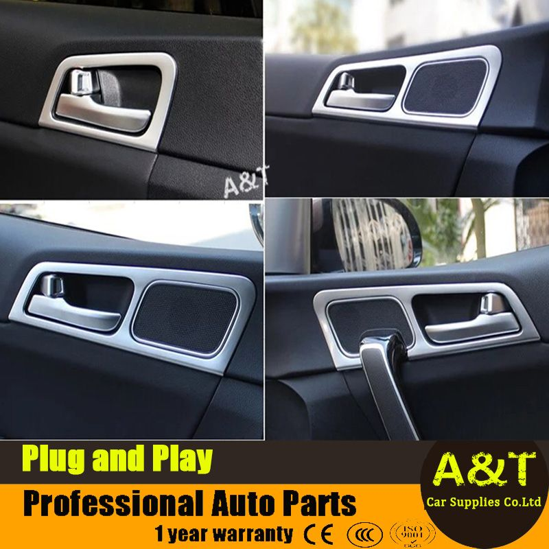 Jgrt Car Styling For Kia Sportage Kx5 2016 2017 Model High Quality Chrome Inner Door Handle Decorative Frame 4 Pcs Car Kia Sportage Door Handles Doors Interior