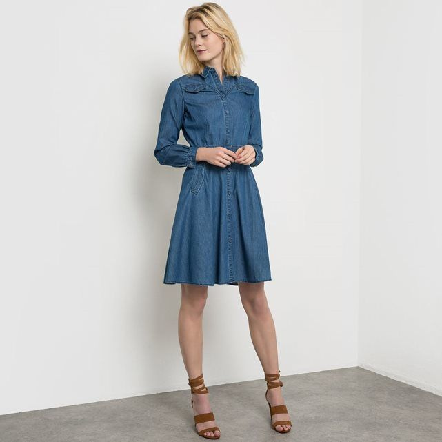 Robe jean patineuse