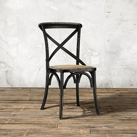 Cadence Dining Side Chair With Woven Seat In Black Side Chairs Dining Simple Dining Chairs Side Chairs