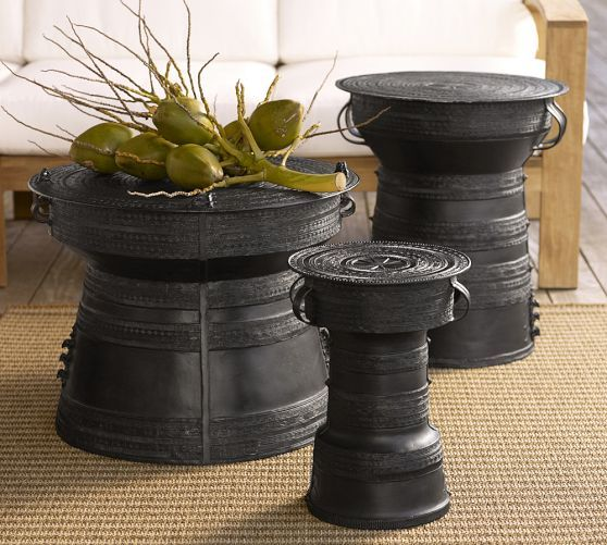 Frog Rain Drum Accent Table Pottery Barn