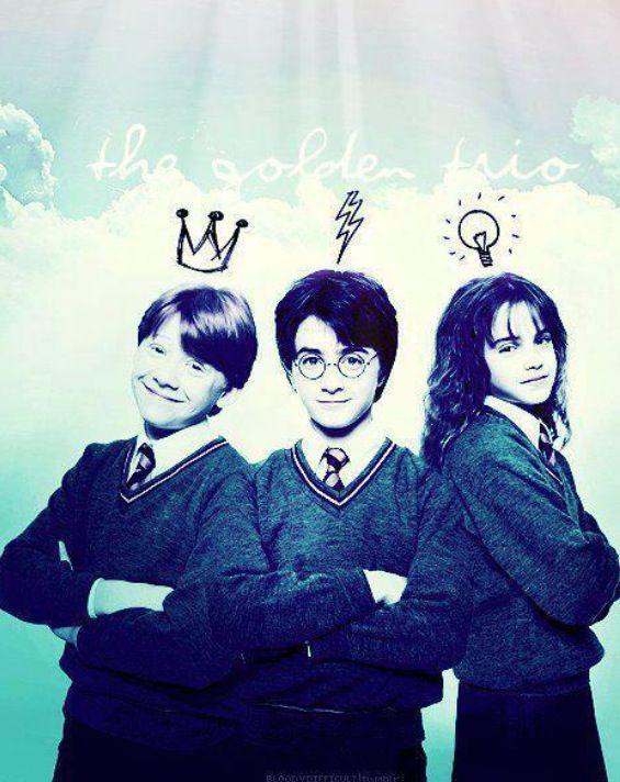 The Golden Trio Harry Potter Tumblr Harry Potter Universal Harry Potter Cast