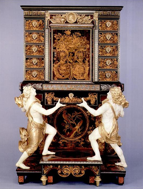 """André-Charles Boulle was the French cabinetmaker who is generally considered to be the preeminent artist in the field of marquetry, even """"the most remarkable of all French cabinetmakers"""