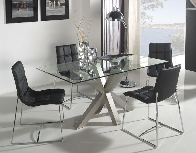 Moderna mesa de comedor fabricada completamente en vidrio. medidas ...