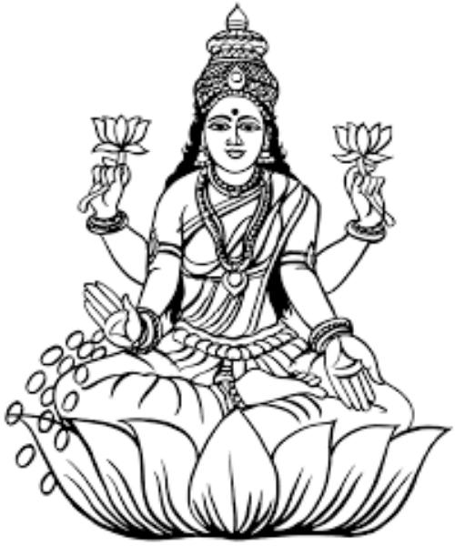 Who Is Goddess Saraswati In 2020 Cartoon Clip Art Art Tribal Drawings