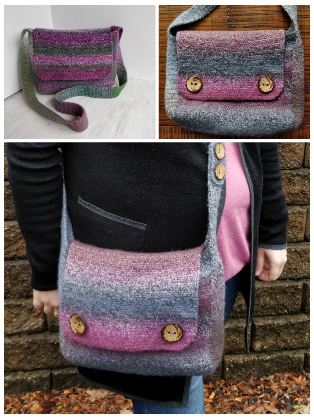 Freda Felted Messenger Bag – Free Pattern (With images