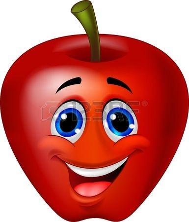 Historieta Divertida Manzana Manzanas Dibujo Dibujos Frutas Y Verduras Dibujos De Frutas